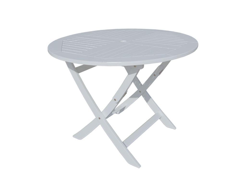 TOLEDO összecsukható kerek asztal, 100 cm, lakkozott eukaliptuszfa ...
