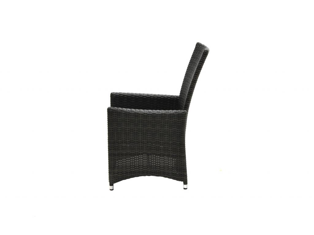 Étkező szék szürkésbarna rattan, párna antracit, háttámlája dönthető,mérete: 64 x 71,5 x 106,5 ...