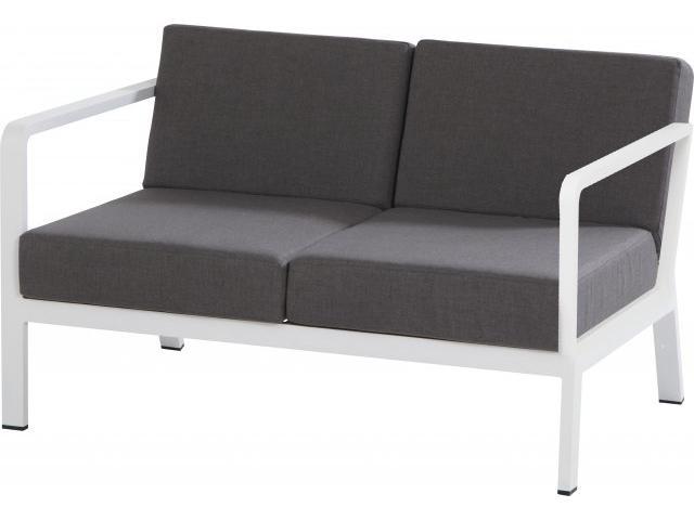 Domino ülőgarnitúra: 2 személyes kanapé, fehér, 4 párnával ...
