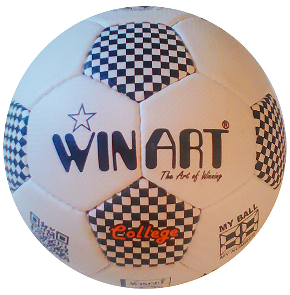 Winart College futball labda No. 5 white /black